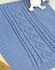 Swirling Leaves Baby Blanket - Knitting Patterns and